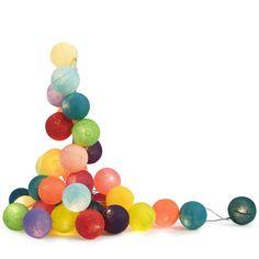 guirlande lumineuse boules colores tao tong objets dcoratifs vases accessoires de dcoration - Guirlande Boules Colores