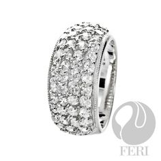 - 925 fine sterling silver - 0.5 micron natural rhodium plating - Set with AAA white cubic zirconia - Dimension:  Invest with confidence in FERI Designer Lines https://www.globalwealthtrade.com/vdm/display_item.php?referral=jgala&category=12&item=2922&cntylng=&page=3