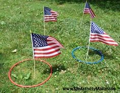 Giant Ring Toss for Independence Day picnic - the kiddos would love this.