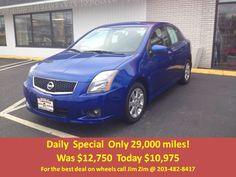 2010 Nissan Sentra SR. automatic, BT, prem audio, alloys and only 29k miles! For the best deal on wheels call Jim Zim @ 203-482-8417