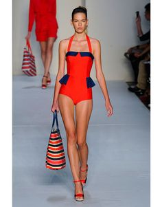 Tailored swimsuit..New York Fashion Week Spring 2012 Runway Looks - Best Spring 2012 Runway Fashion - Harper's BAZAAR