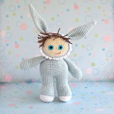 #Boy in #Bunny #Costume, sweet Amichy #amigurumi #crochet #doll #pattern