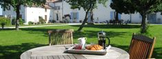 These two holiday cottages in the Charente Maritime are perfect for families with young children, enclosed heated swimming pool, gardens and close to amenities Toddler Friendly Holidays, Villa France, Holiday Accommodation, Rental Property, The Places Youll Go, Perfect Place, Cottage, Patio, Outdoor Decor