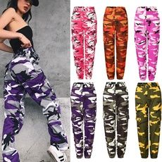 Buy Trendy Women Camo Cargo Trousers Military Army Combat Camouflage Pants Baggy Hip Hop Pants at Wish - Shopping Made Fun Camo Pants Outfit, Camo Outfits, Hip Hop Dance Outfits, Cute Swag Outfits, Cute Comfy Outfits, Edgy Outfits, Teen Fashion Outfits, Tomboy Fashion, Camo Dress