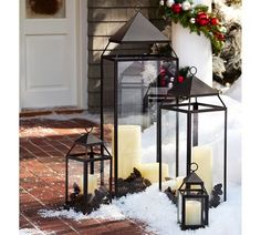 Malta Lantern - Bronze finish | Pottery Barn    I have the large, medium, and small.  They are PERFECT year round!  LOVE these!