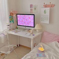Study Room Decor, Cute Room Decor, Room Setup, Room Design Bedroom, Room Ideas Bedroom, Bedroom Decor, Pastel Room, Minimalist Room, Pretty Room