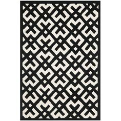 Chatham Ivory/Black 6 ft. x 9 ft. Area Rug