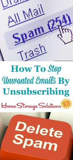 The right and wrong way to go about how to stop unwanted emails by unsubscribing {on Home Storage Solutions 101}