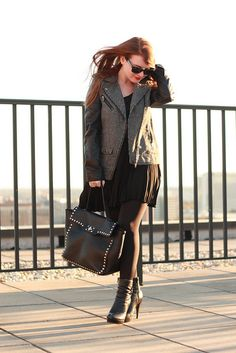 Loving this whole look! #leather