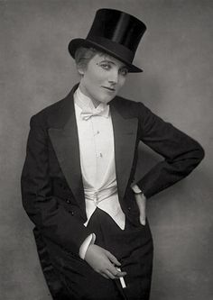 Gina Palerme, a French music hall performer, here pictured in 191- A Brief History of Women in Tuxes