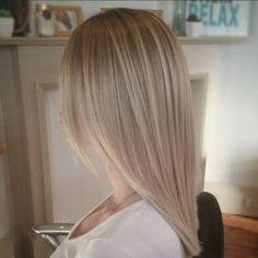 1 medium layered bronde hairstyle 2