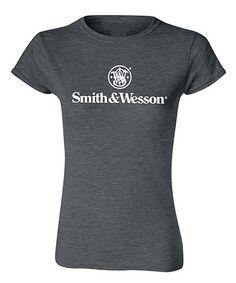 Look at this #zulilyfind! Dark Heather 'Smith & Wesson' Tee - Women #zulilyfinds