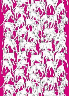 Iltavilli by Marimekko Graphic Patterns, Textile Patterns, Graphic Prints, Textile Design, Design Art, Marimekko, Textiles, Pretty Patterns, Pattern Illustration