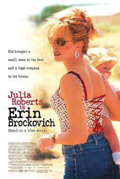 'Erin Brockovich' starring Julia Roberts in the title role. A divorcee convinces her boss (Albert Finney) to investigate contaminated water in a nearby town. The film was an Oscar winner for Julia Roberts. Film Movie, Dvd Film, See Movie, Film Music Books, Movie Club, Films Étrangers, Films Cinema, Julia Roberts Erin Brockovich, Julia Roberts Movies