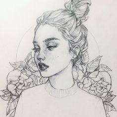 art sketches aesthetic art sketches , art sketches easy , art sketches pencil , art s Girl Illustration Art, Illustration Fantasy, Illustration Simple, Portraits Illustrés, Van Gogh Portraits, Pencil Art Drawings, Art Drawings Sketches, Sketch Art, Portrait Sketches