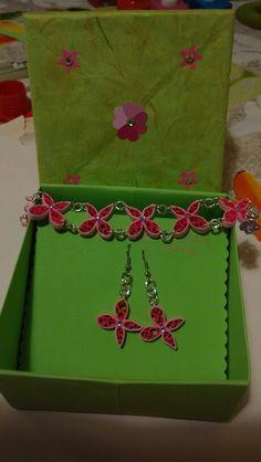 Set farfalline con scatolina regalo.