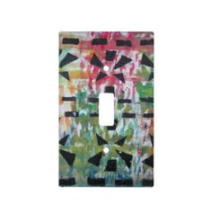 Abstract Colorful Light Switch Cover by Natural View