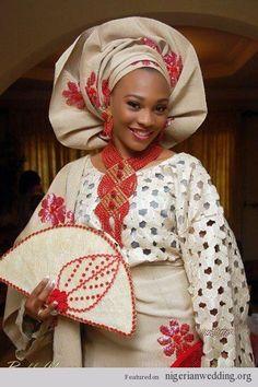 Engagement attire champagne coloured aso oke ideas nigerian wedding
