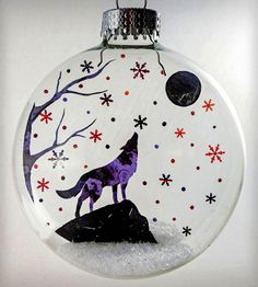 Glass Lone Wolf Moon Holiday Ornament | Home Decor | Glak Love | Scoutmob Shoppe | Product Detail