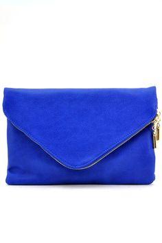 Emily Envelope Clutch - Royal Blue