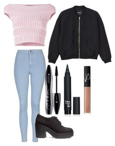 """Untitled #159"" by alexmlenek on Polyvore featuring Alexander McQueen, Monki, Lancôme, NARS Cosmetics and Topshop"