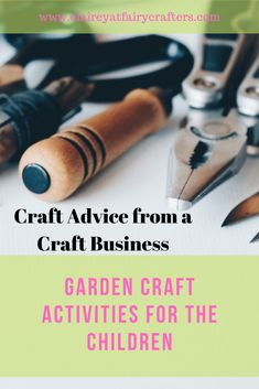 Some craft ideas to keep the children amused in the garden when the weather allows #inthegarden #children #crafts #crafting