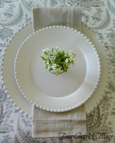 Fern Creek Cottage: Gray & White Easter Table