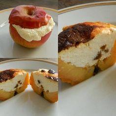Túróval töltött sült alma ~ Éhezésmentes Karcsúság Szafival