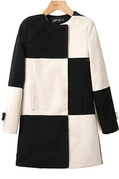 I think I'm going through a black and white phase. Love this coat!