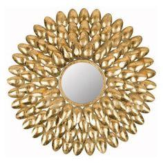 Safavieh Royal Leaf Sunburst Wall Mirror - MIR4028A, SAV4308