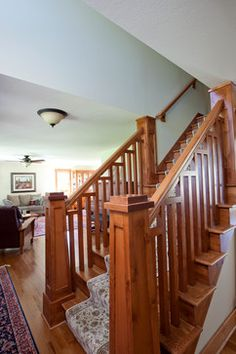 craft solutions inc custom craftsman mahogany handrail square balusters and 1653