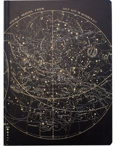 "This Astronomy sketchbook is emblazed with vintage illustrations of the ""Visible Heavens."" Everywhere you look, the sky is spangled with stars"