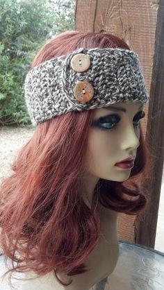 Crochet Headband Crochet Head warmer Brown Headband by HolyNoggins, $15.00