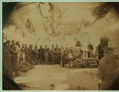 [Prisoners at Point Lookout taking the oath of allegiance] Rebel prison scenes. Point Lookout Maryland. 1864. :: New-York Historical Society, Civil War Treasures