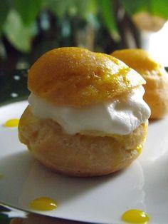 Petits choux � la chantilly citron