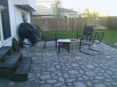 Completed Patio Using Quickcrete Walkmaker. 1 X 80lb Bag Per 2x2ft Form