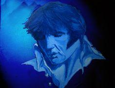 Elvis 'Moody Blue' Original Oil Painting by Adam Tobias