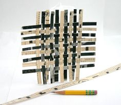 Black Paper Weaving Original Mini Geometric Paper by lauraprill, $8.00