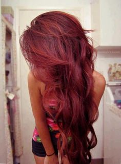 Dark cherry red hair… Fun to try as temporary color one summer or winter. Dark cherry red hair… Fun to try as temporary color one summer or winter. Dyed Red Hair, Dye My Hair, New Hair, Magenta Hair, Reddish Hair, Plum Hair, Pinkish Red Hair, Yellow Hair, Red Hair Tan Skin