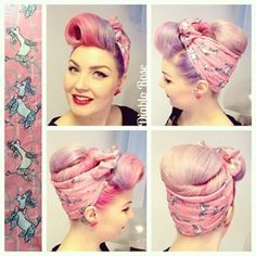 Diablo rose hair inspiration in 2019 волосы, прически Bandana Hairstyles For Long Hair, Work Hairstyles, Retro Hairstyles, Wedding Hairstyles, Hair Cute, Pinup, 1930s Hair, Prom Hair Medium, Retro Updo