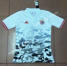 2017-18 Bayern München White Soccer Polo Shirt 004faa088135f