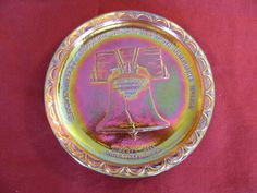 AMERICAN BICENTENNIAL COMMERATIVE PLATE COLLECTORS EDITION INDIANA GLASS  #INDIANAGLASS