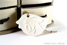 Items similar to Ceramic Bird Ornament Christmas Ornament Holiday Ornament Wall Art Wall Hanging Home Decor Kids Room Gift Dove White Ready To Ship on Etsy Bird Ornaments, Heart Ornament, Christmas Tree Ornaments, Clay Studio, Ceramic Studio, Handmade Pottery, Handmade Gifts, Paper Mache Clay, Hand Built Pottery