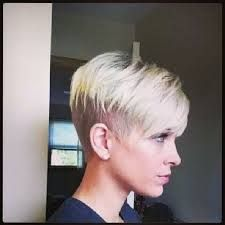 Image result for blonde pixie cut shaved underneath