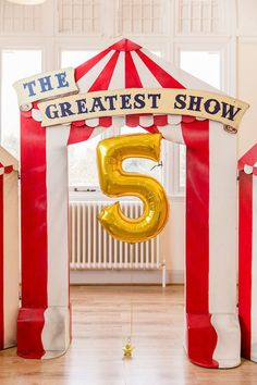 The Greatest Show - Circus Tent Entrance from a Greatest Showman Circus Birthday Party on Kara's Party Ideas | KarasPartyIdeas.com (36)
