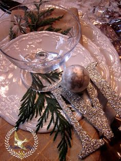 Feathers & Flight ~Jill McCall-Marcott~Mixed Media & Digital Artist: Winter White Christmas Table Scape