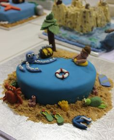 Want to SEA some insanely well decorated seaside themed cakes? Cake And Bake Show, Beach Cakes, Beach Meals, Mary Berry, Sea Side, Beach Party, Themed Cakes, Homework, Cake Toppers