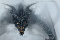 Alduin on The Throat of the World