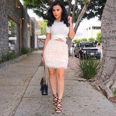 #FringeTastic Top @nakedwardrobe Skirt @missguided Necklace @bcbgmaxazria Shoes @zarausa Bag @chanelofficial #glamrezy