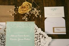 Rustic Chic wedding stationery and custom logo by Much Love Designs